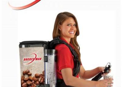 mochila expendedora de café